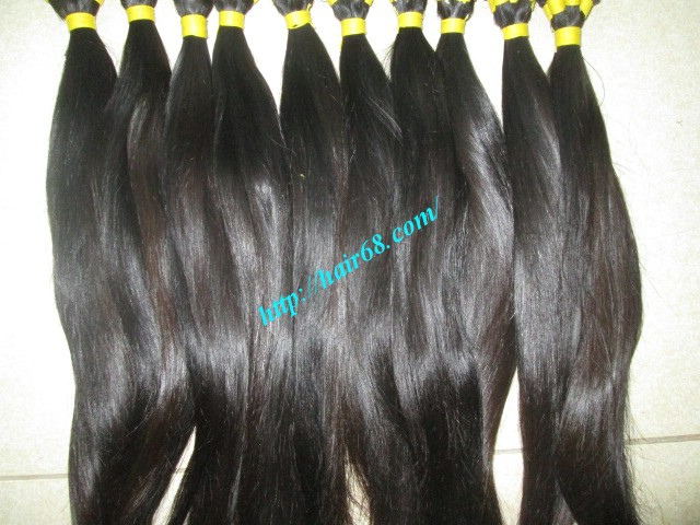 8 inch hand tied weft hair 4