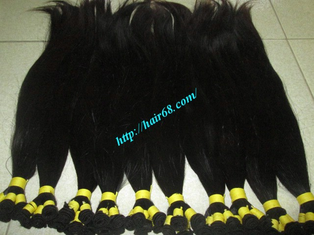 8 inch hand tied weft hair 5