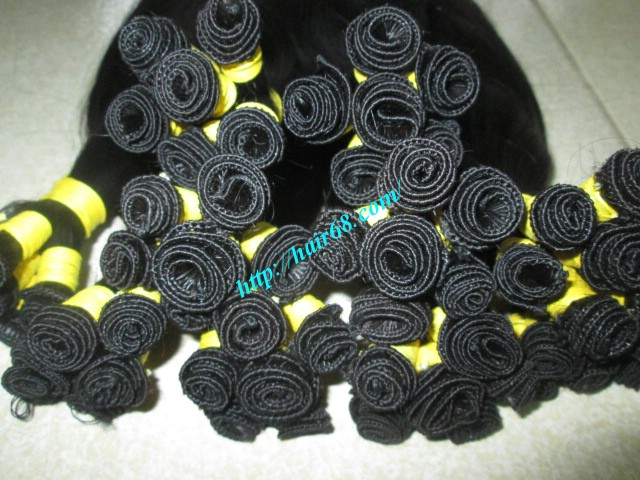 8 inch hand tied weft hair wavy single drawn 1