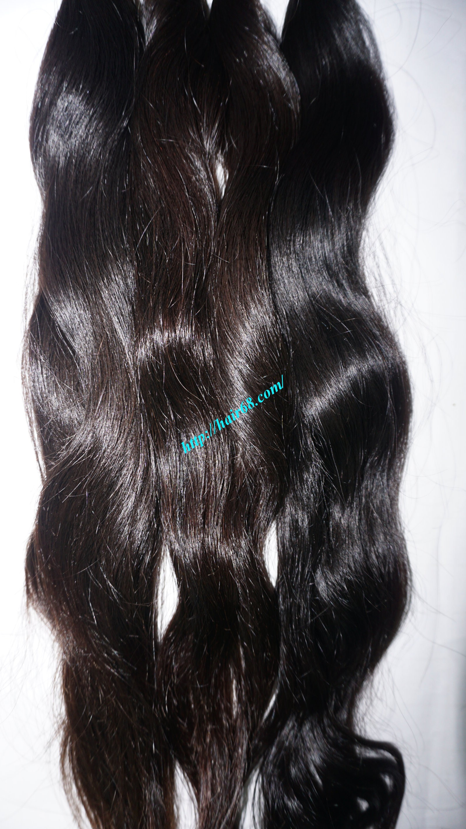 8 inch hand tied weft hair wavy single drawn 5