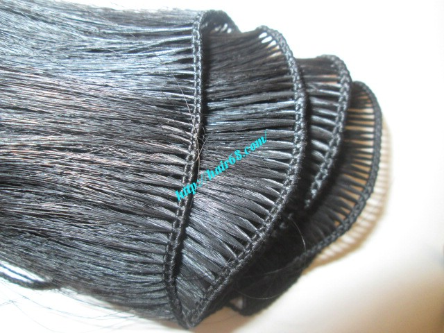 8 inch hand tied weft wavy double drawn 1
