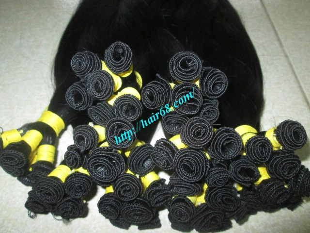 8 inch hand tied weft wavy double drawn 2