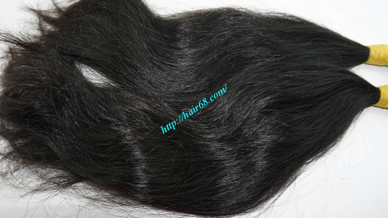 10 inch natural wavy hair extensions 2