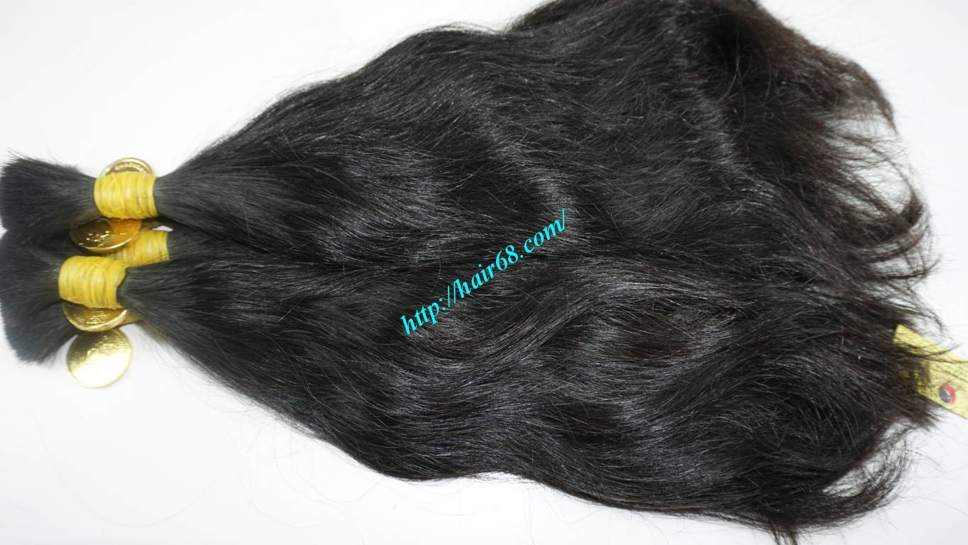 14 inch wavy real hair extensions 1
