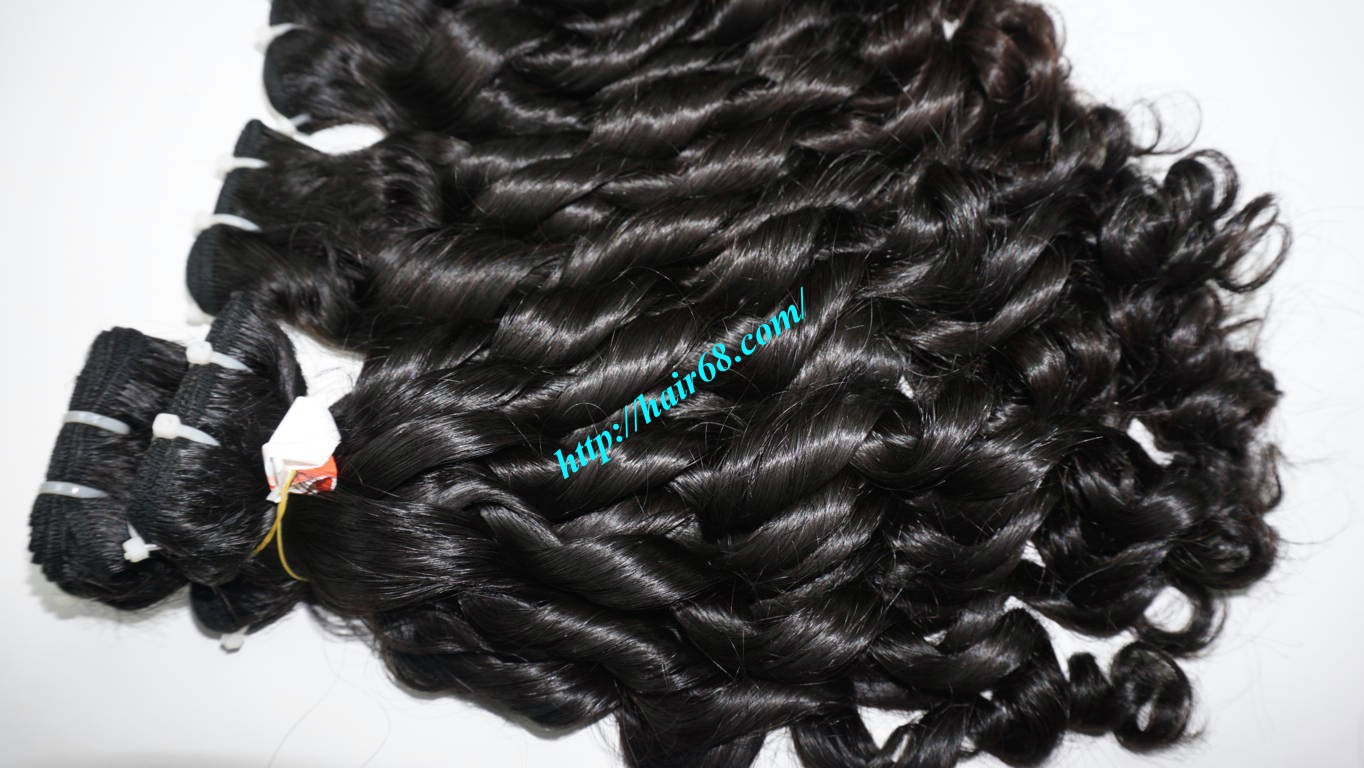22 inch Loose Curly Hair Weave 5