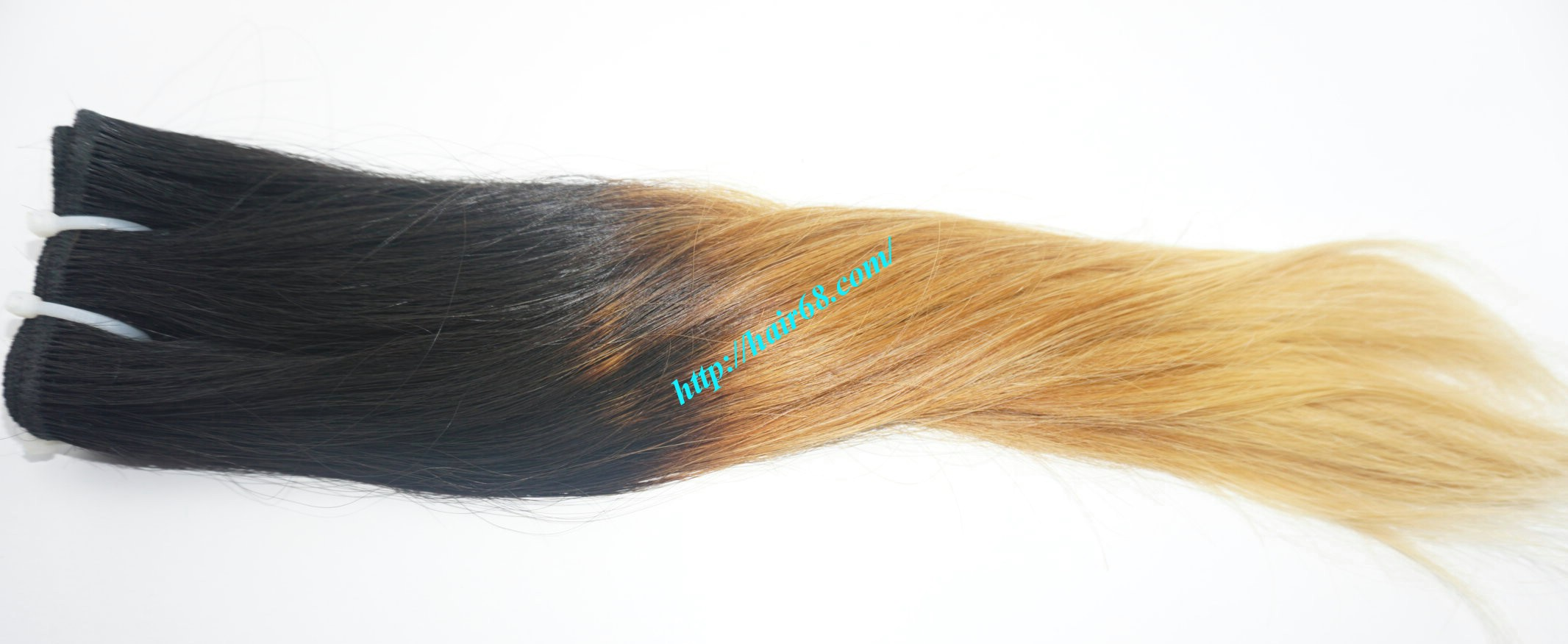 18 inch black to yellow ombre hair extensions 5