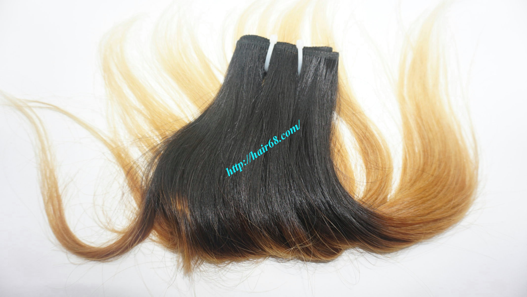 18 inch black to yellow ombre hair extensions 6