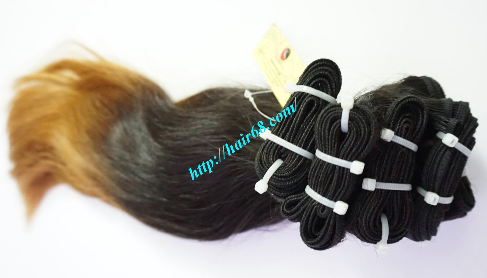 18 inch black to yellow ombre hair extensions 7