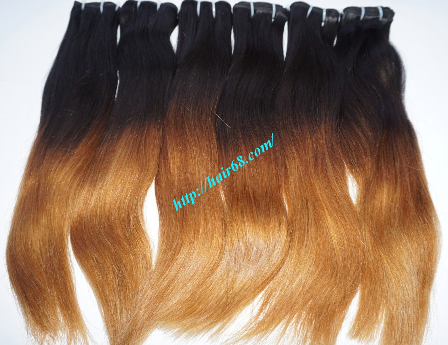 Charming With 300 Piece Black To Yellow Ombre Hair Extensions